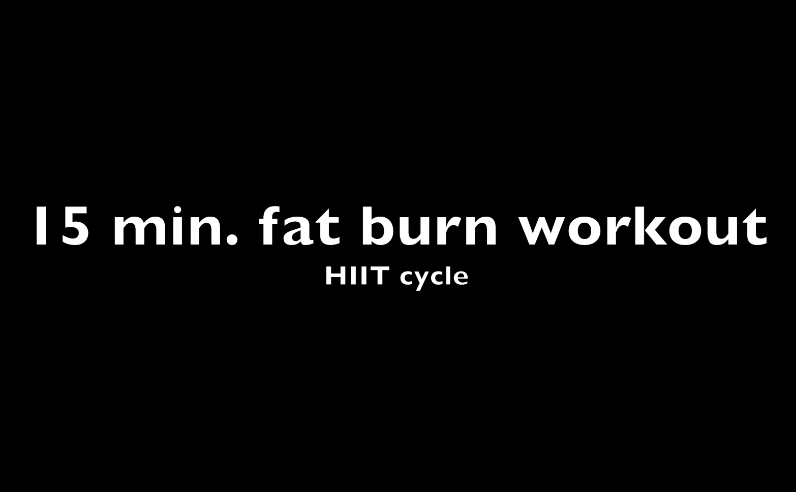15 minute FAT BURN workout