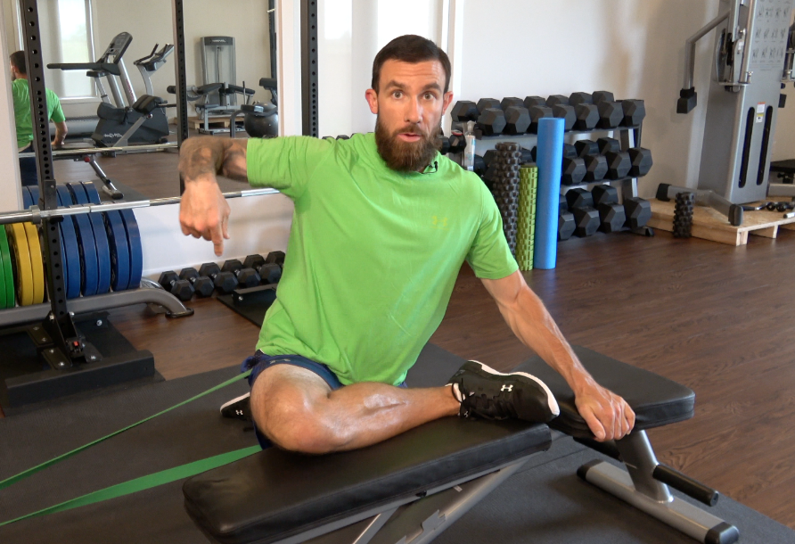 Rubber band series… Glutes/External rotation.